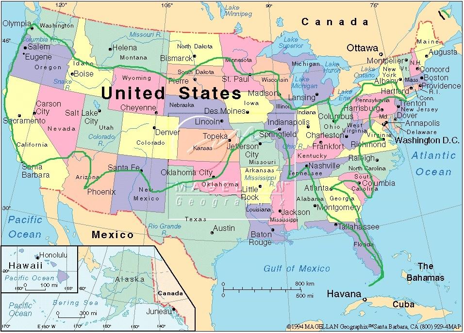 usa kart med byer Vi reiser til USA i 2020 – Amerikareisen 2020 usa kart med byer
